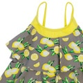 DownEast Basics Girls' Lemon Tiered Ruffle Tankini Swimsuit