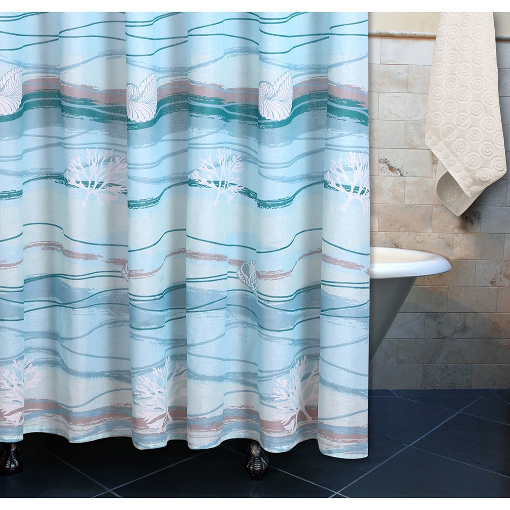 Shop Greenland Home Fashions Maui Shower Curtain - On Sale - Free ...