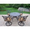 Willoughby by Oakland Living Sunbrella Aluminum 5-piece Dining Set