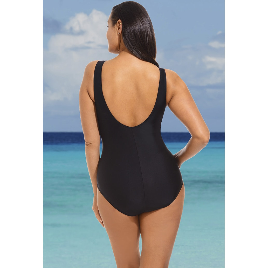 bd24a4a30b Shop Beach Belle Wavelengths Surplice Swimsuit - Free Shipping On Orders  Over $45 - Overstock - 11190312