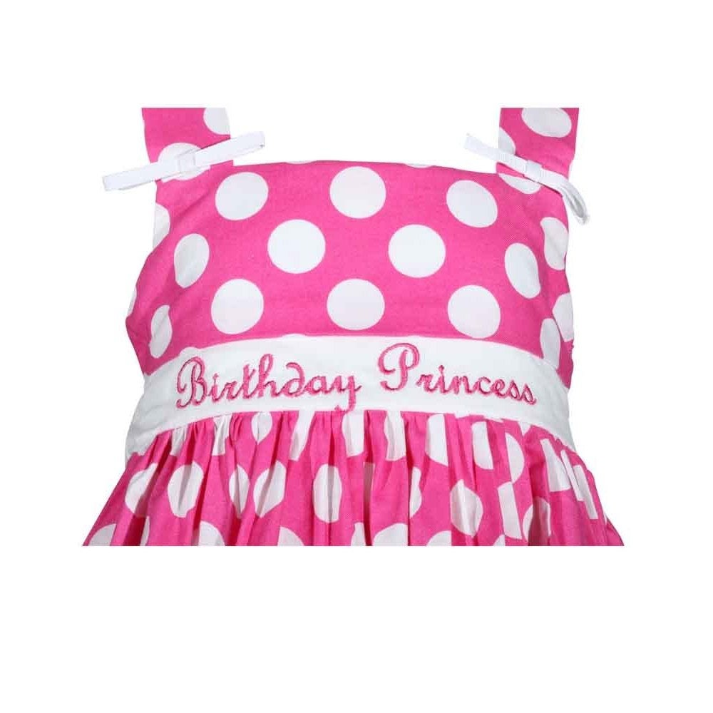 d04bd51b06b Shop Treasure Box Kids Girls Pink Polka Dot Birthday Dress - Ships To  Canada - Overstock.ca - 11190556