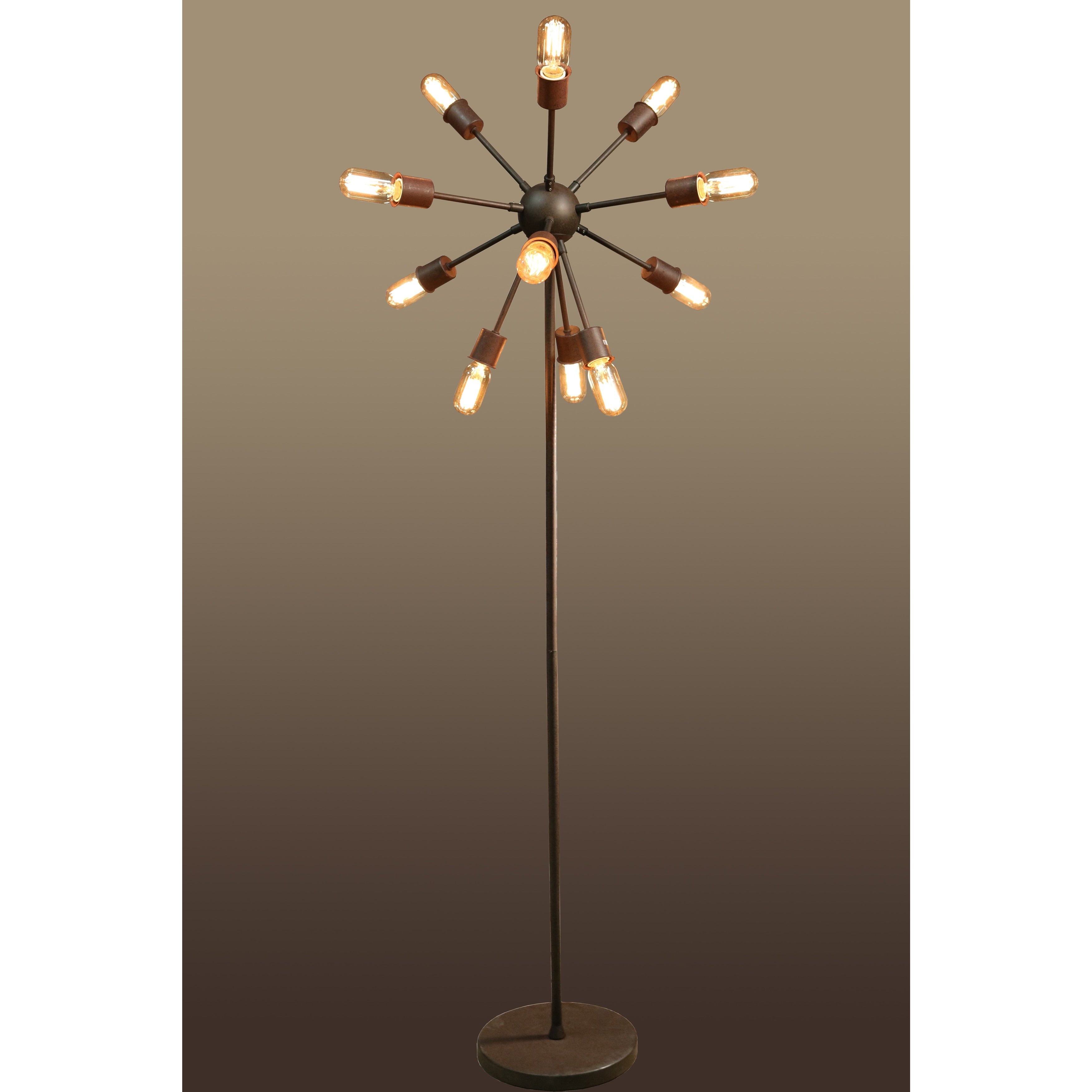 Lovely Marguirite 12 Light Antique Bronze 16 Inch Edison Floor Lamp With Bulbs    Free Shipping Today   Overstock.com   18182282