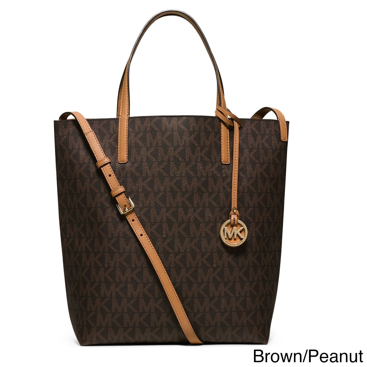 4d9ac05d4ad1 ... Shop Michael Kors Large Hayley Convertible Signature Leather Shoulder Tote  Bag - Free Shipping Today ...