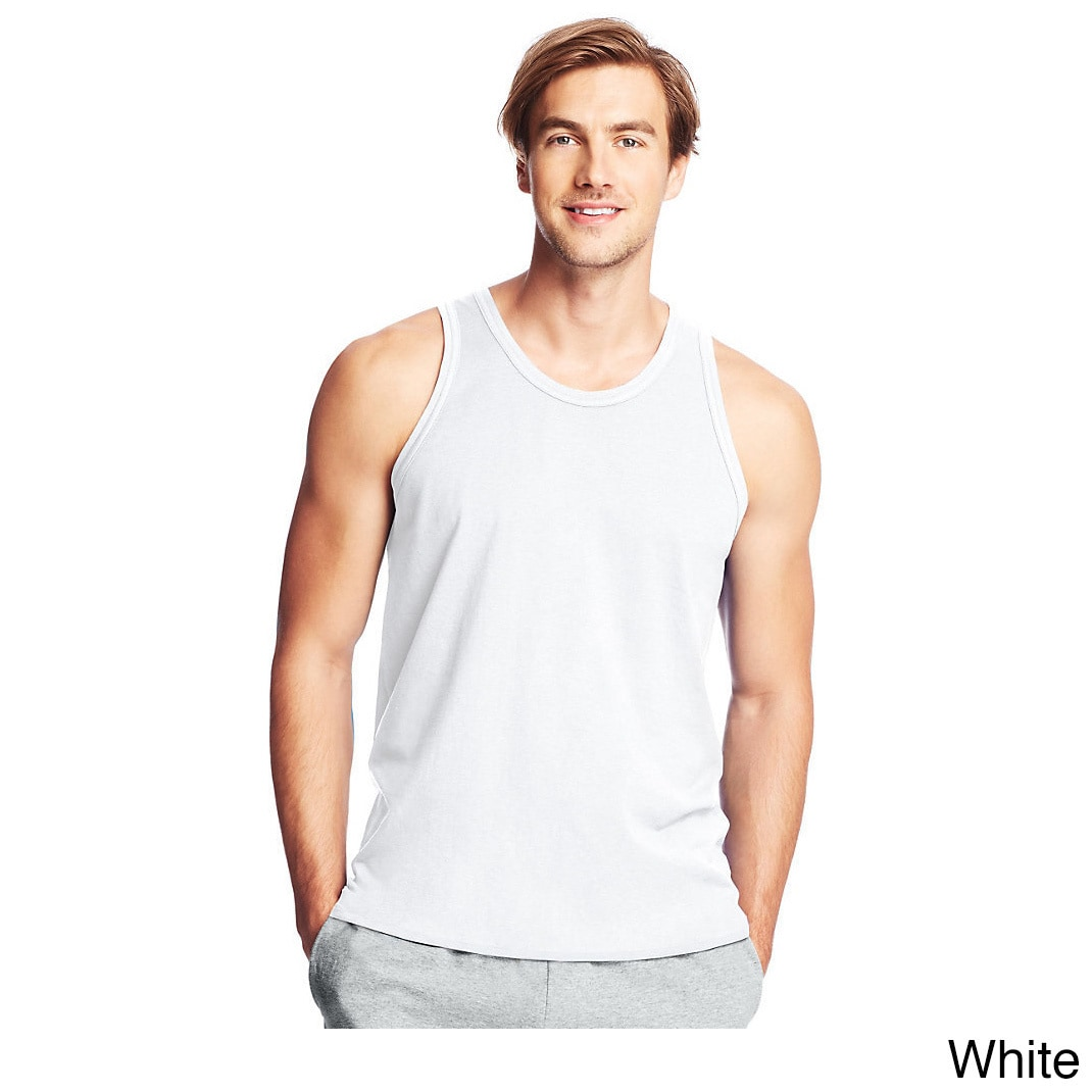e28b1caecdd73 Shop Hanes mens X-Tempa Performance Tank (42MT) - Free Shipping On Orders  Over  45 - Overstock - 11193512