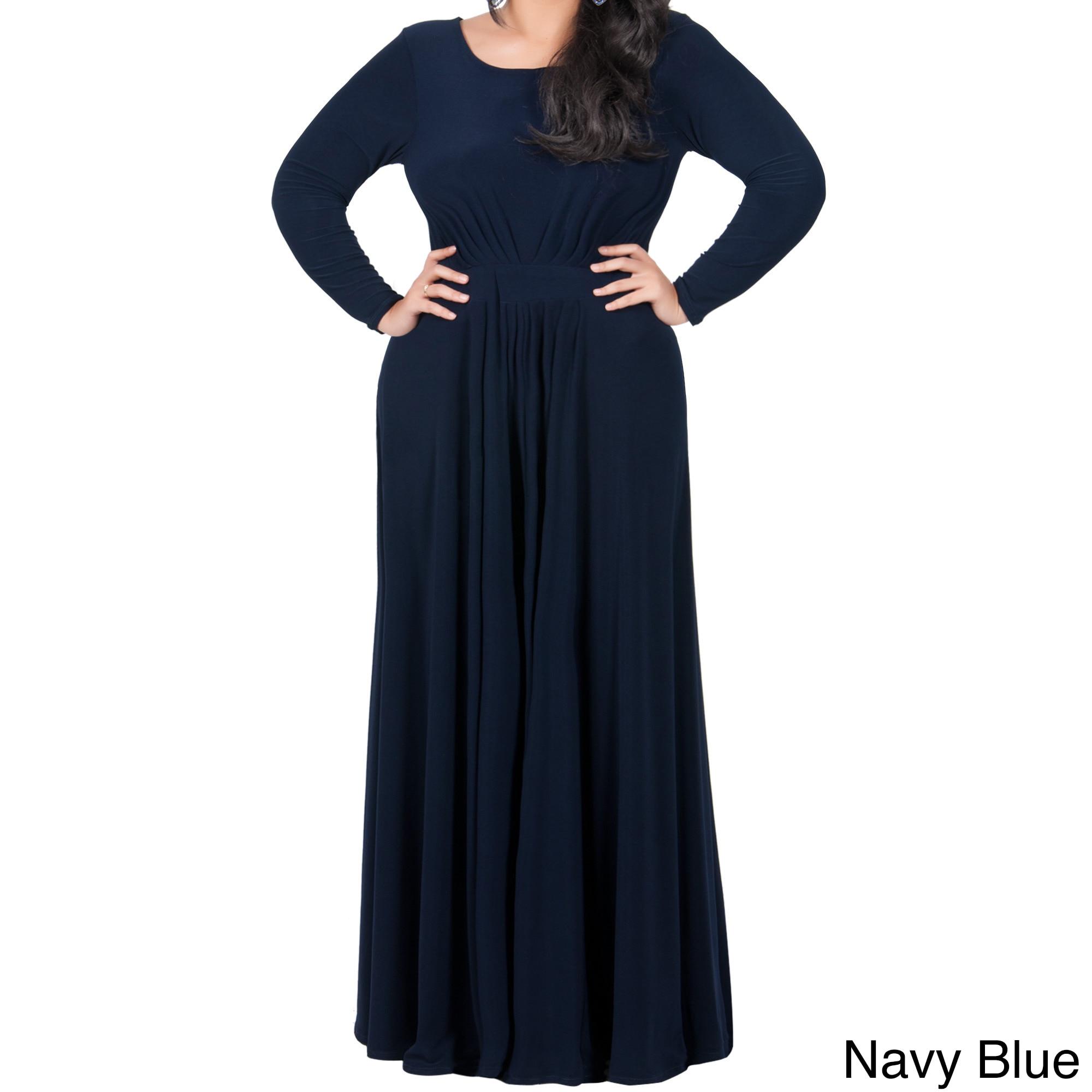 63adbcc322 KOH KOH Womens Plus Size Empire Waist Evening Maxi Dress