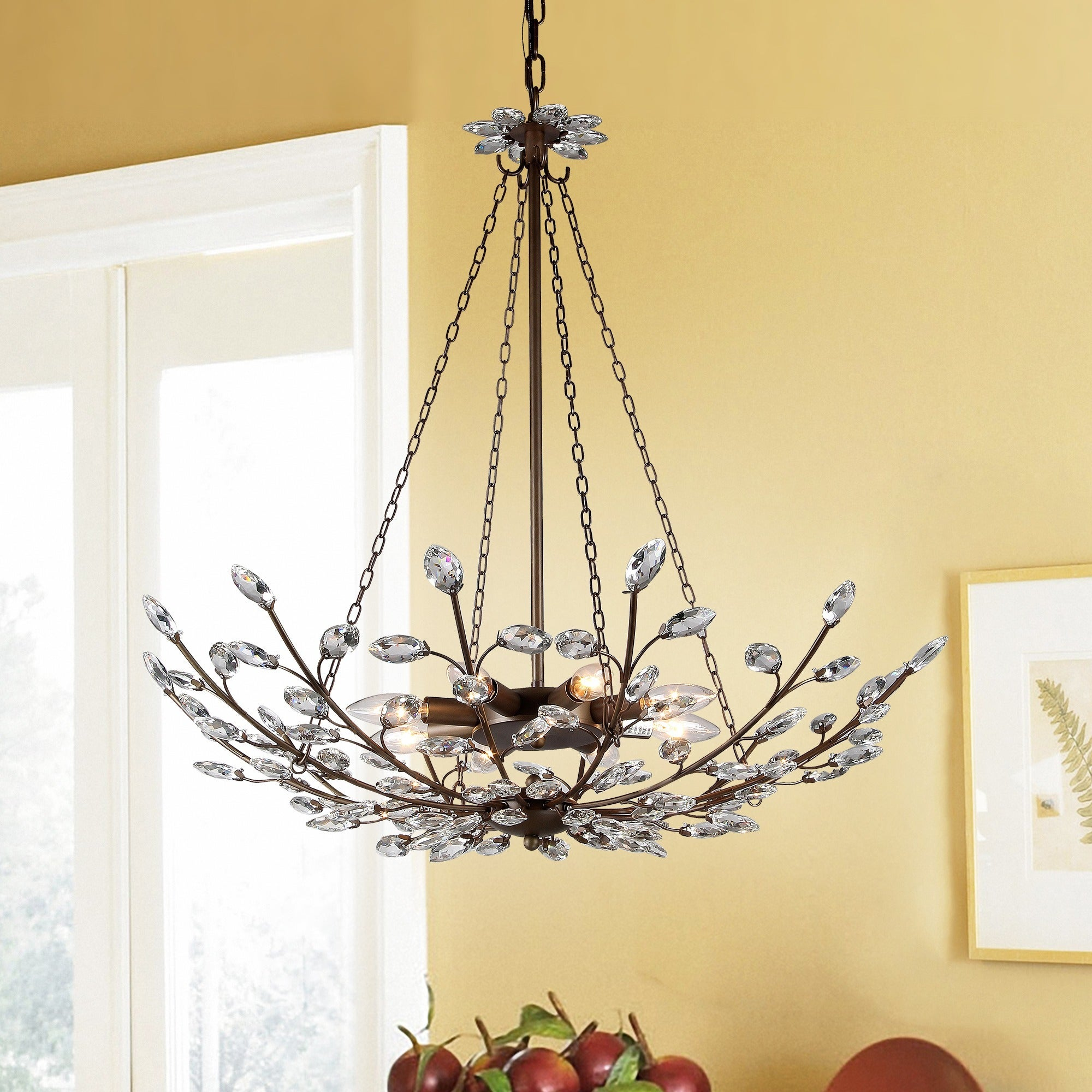 Addie 8 light crystal 30 inch antique bronze chandelier free addie 8 light crystal 30 inch antique bronze chandelier free shipping today overstock 18184894 arubaitofo Image collections