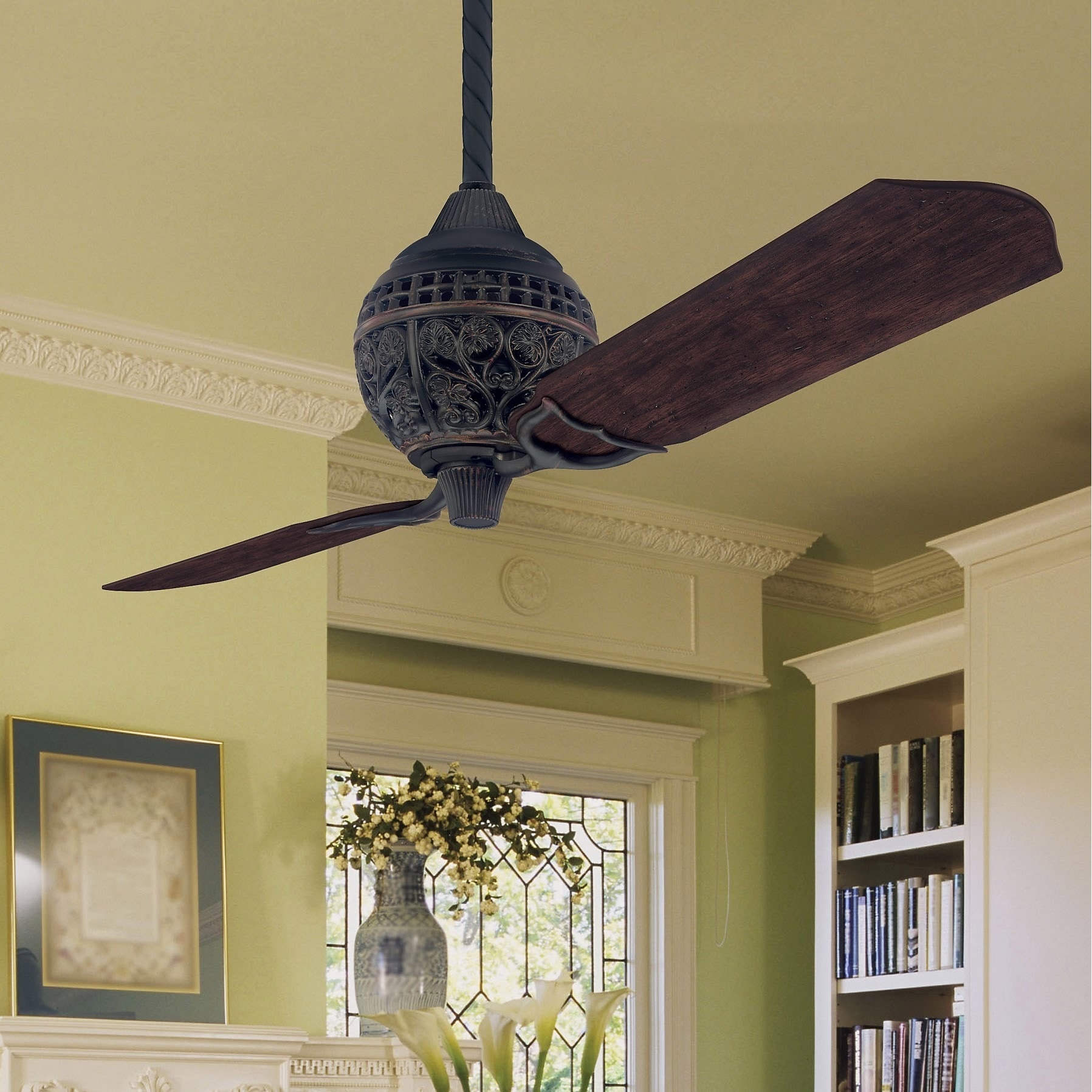 Hunter 1886 Limited Edition 60 Inch Ceiling Fan With Two Carved Wood Blades Free Today Com 11197495