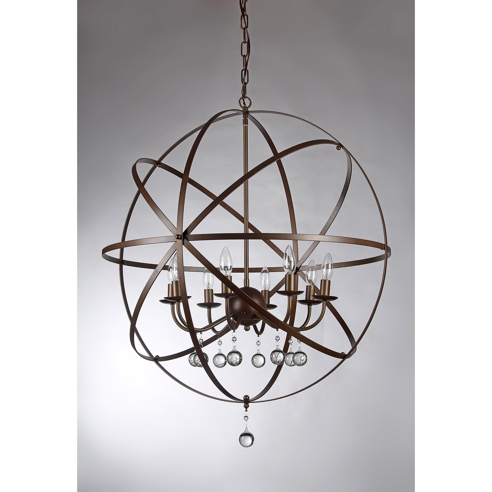 Jossie 8 light Crystal 30 inch Bronze finish Chandelier Free