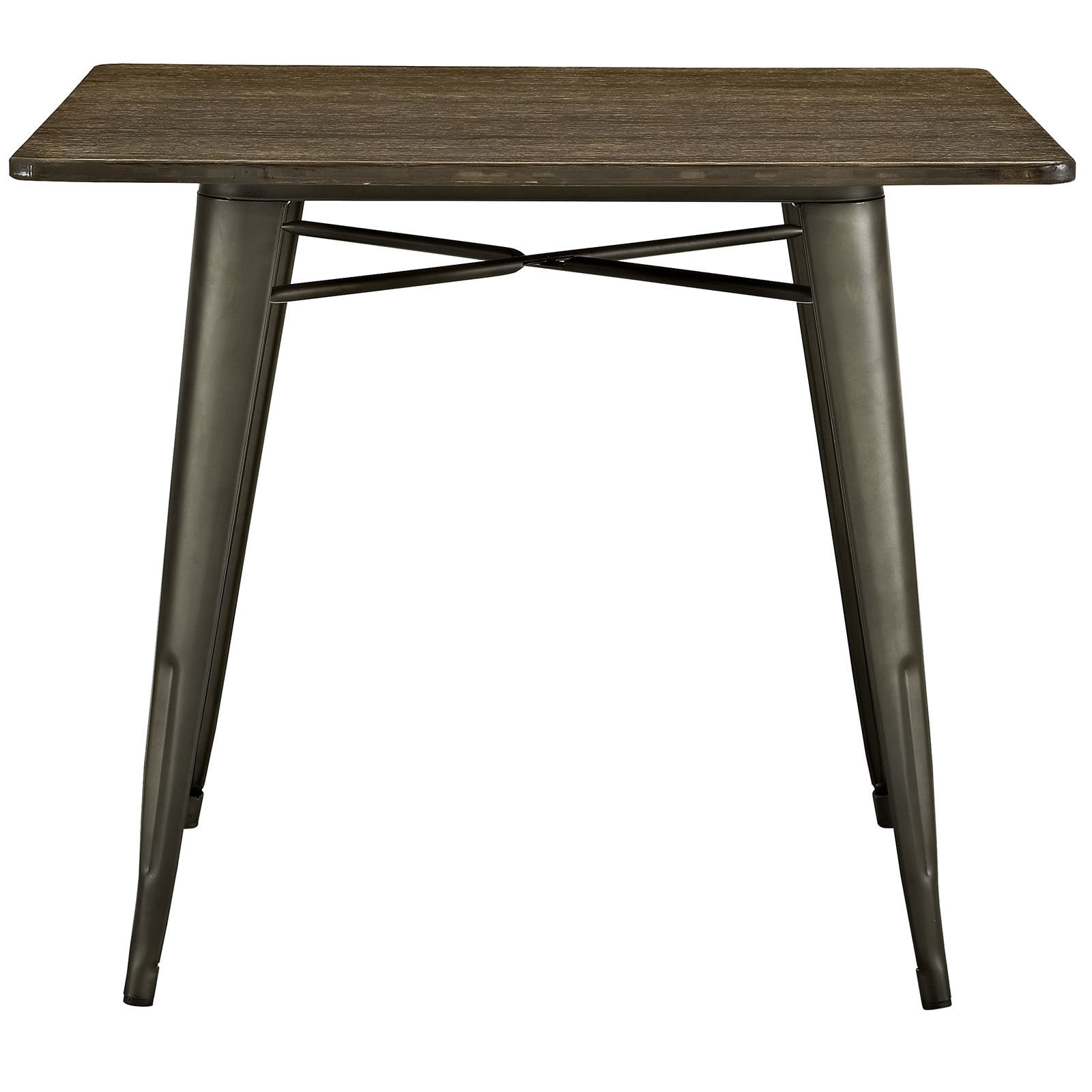 Alacrity 36 Inch Square Wood Dining Table   Brown