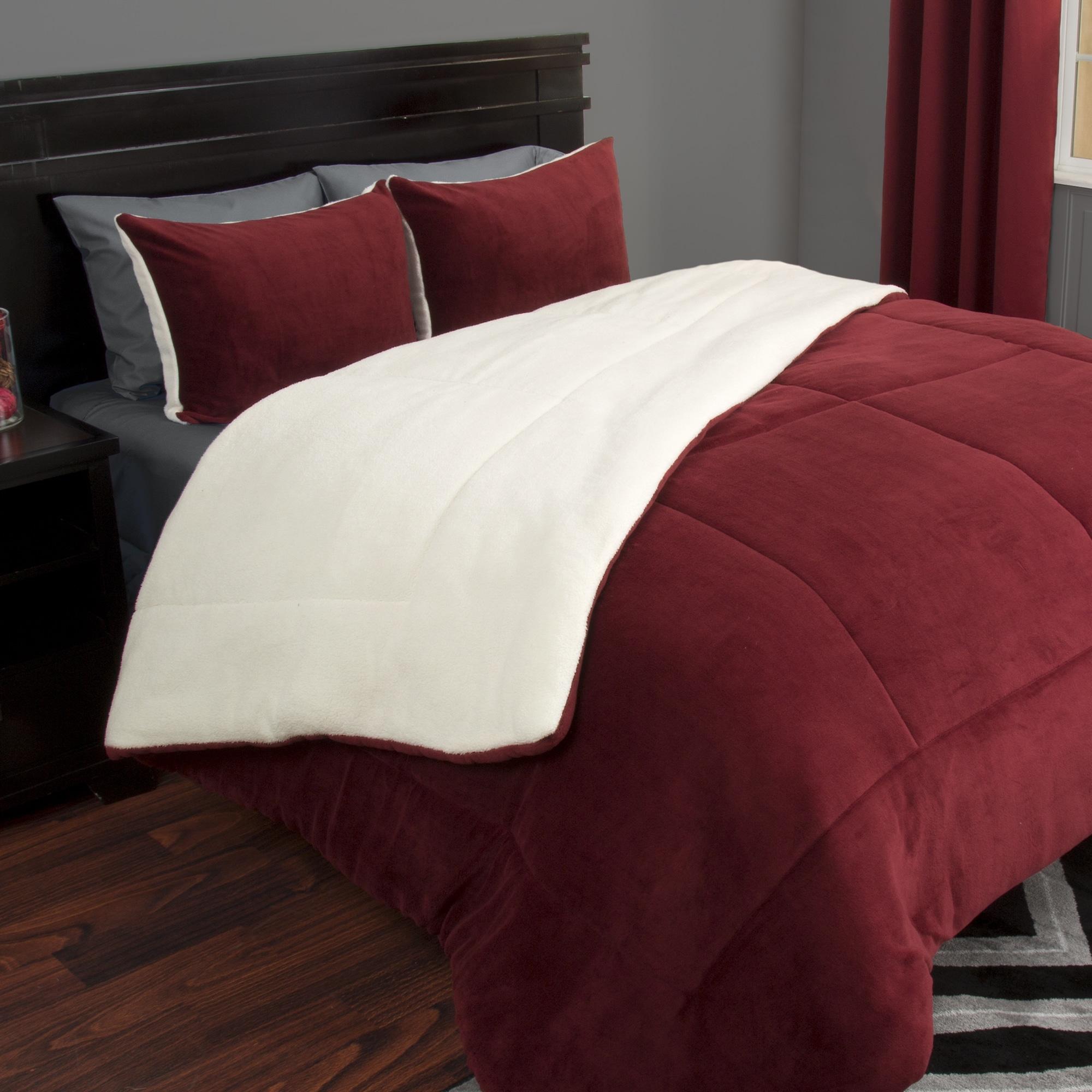 qlt microsuede prod comforters comforter chocolate cannon bedding wid tan bath home p set hei piece bed