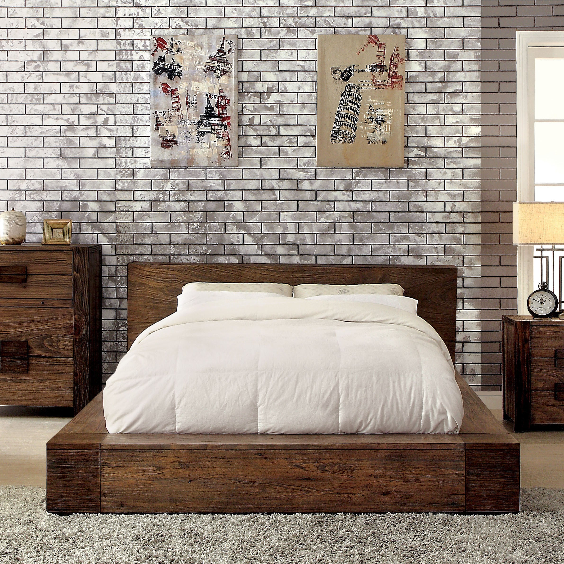 Superbe Shop Pine Canopy Kalmia 3 Piece Natural Tone Low Profile Bedroom Set   On  Sale   Free Shipping Today   Overstock.com   21906789