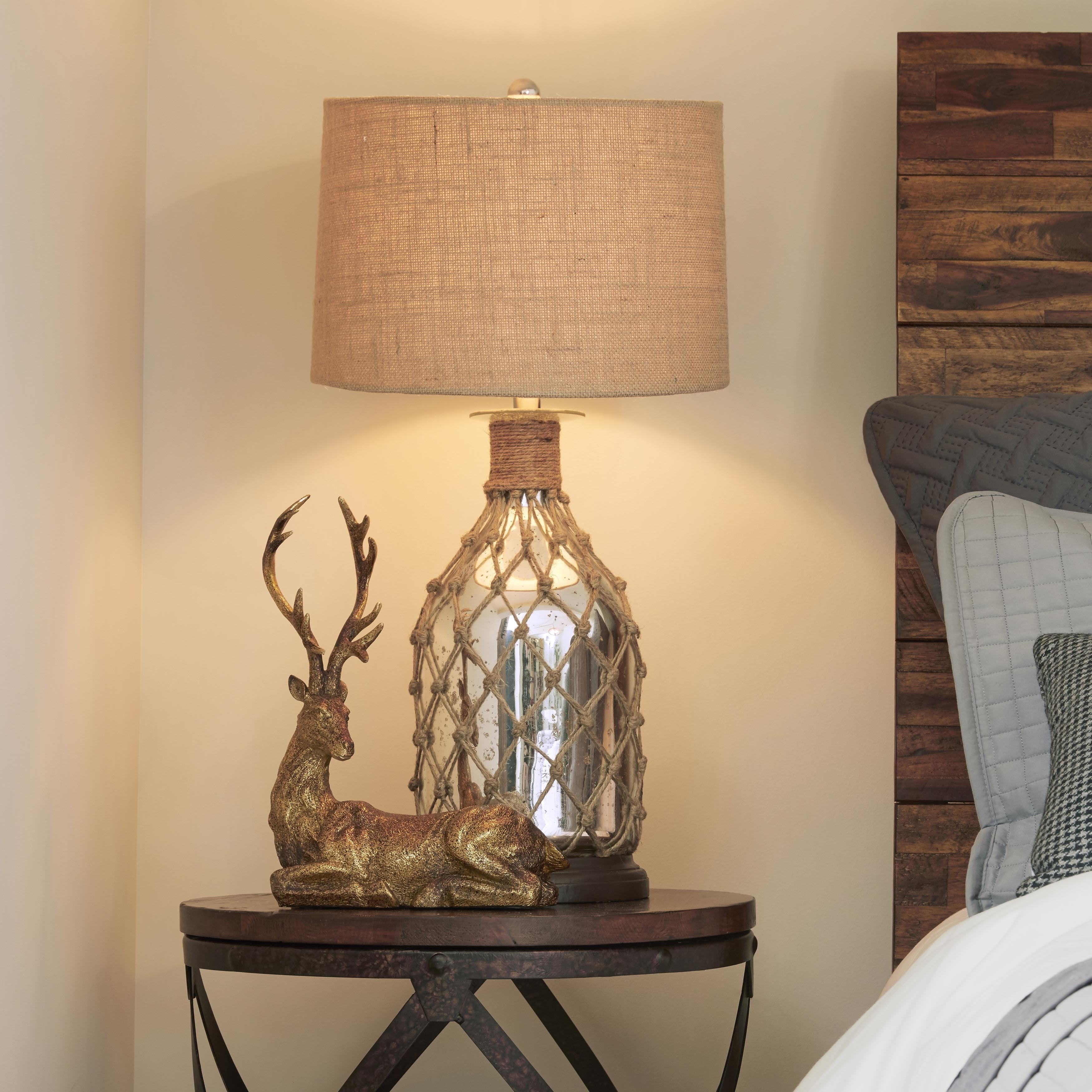 Shop Jute-Wrapped Mercury Glass Table Lamp - On Sale - Free Shipping ...