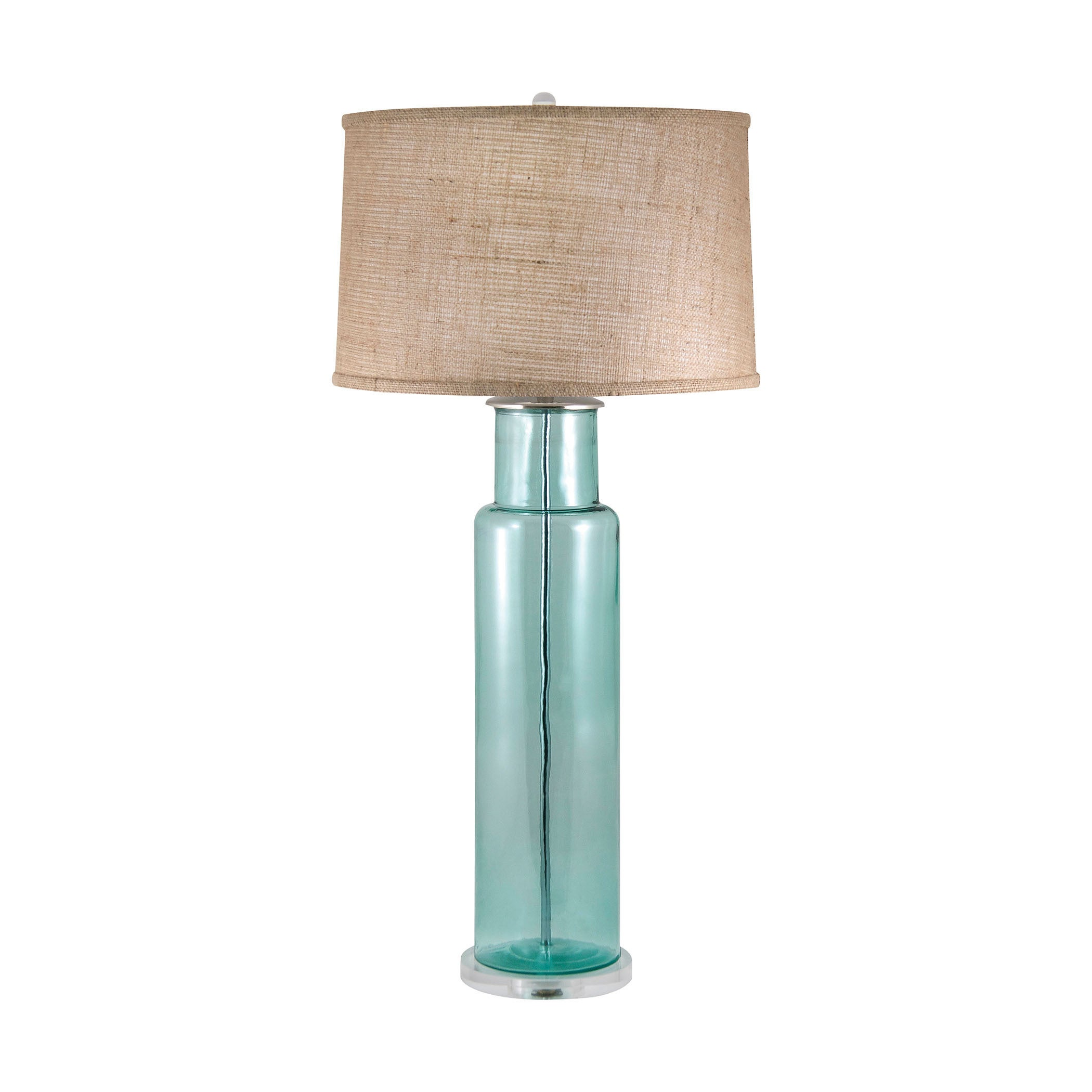 Blue recycled glass cylinder table lamp free shipping today blue recycled glass cylinder table lamp free shipping today overstock 18189173 mozeypictures Choice Image