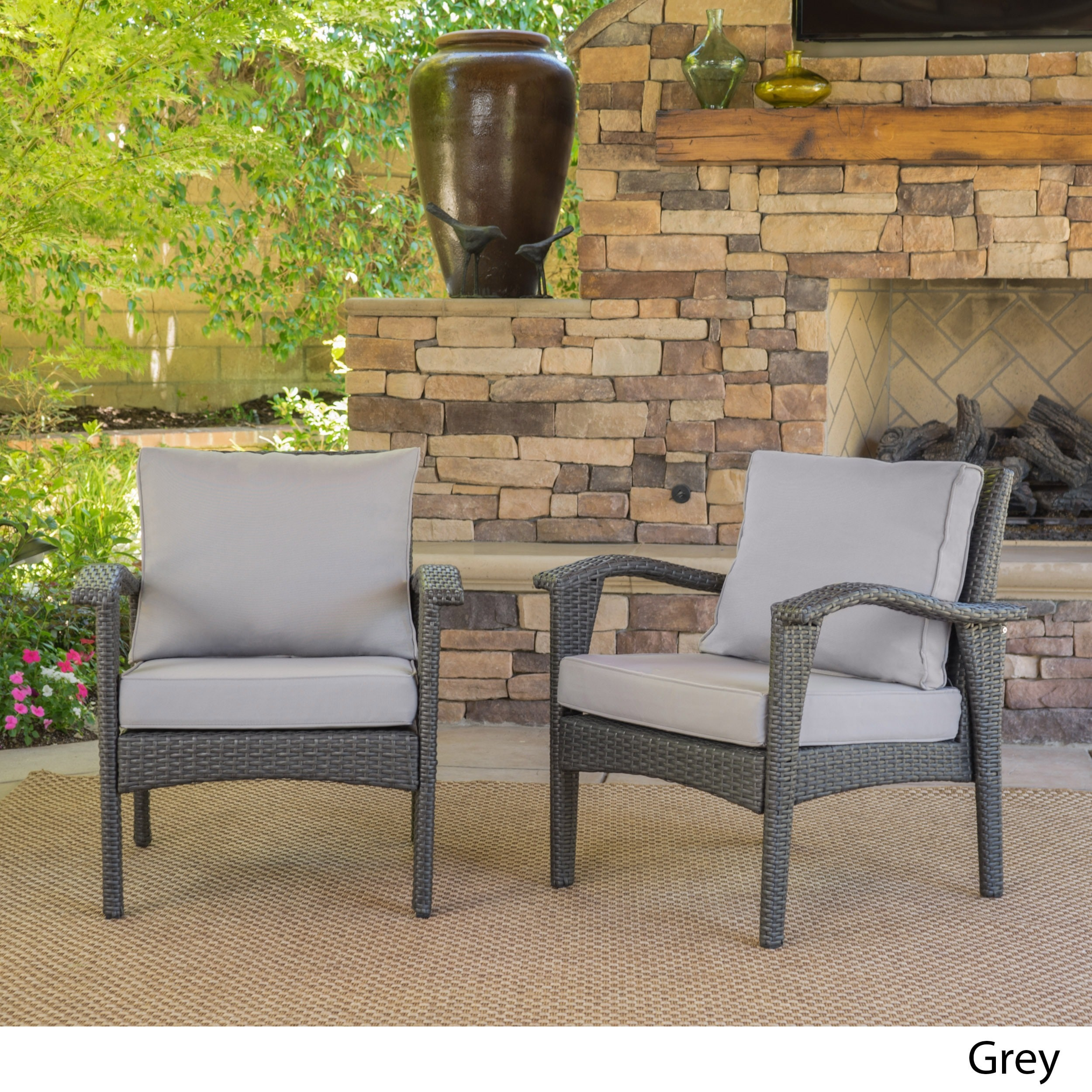 Shop Honolulu Outdoor Wicker Club Chair With Cushion (Set Of 2) By  Christopher Knight Home   On Sale   Free Shipping Today   Overstock.com    11200565