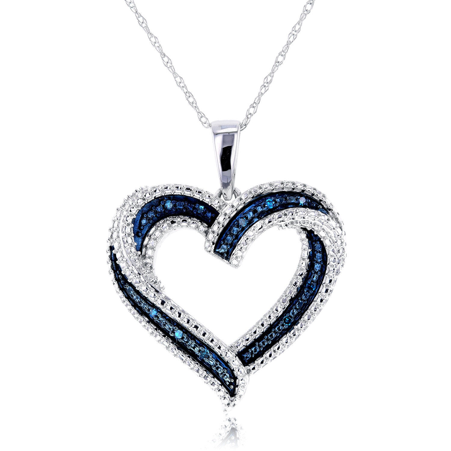 Annello by kobelli 10k white gold blue diamond accent heart pendant annello by kobelli 10k white gold blue diamond accent heart pendant free shipping today overstock 18190222 aloadofball