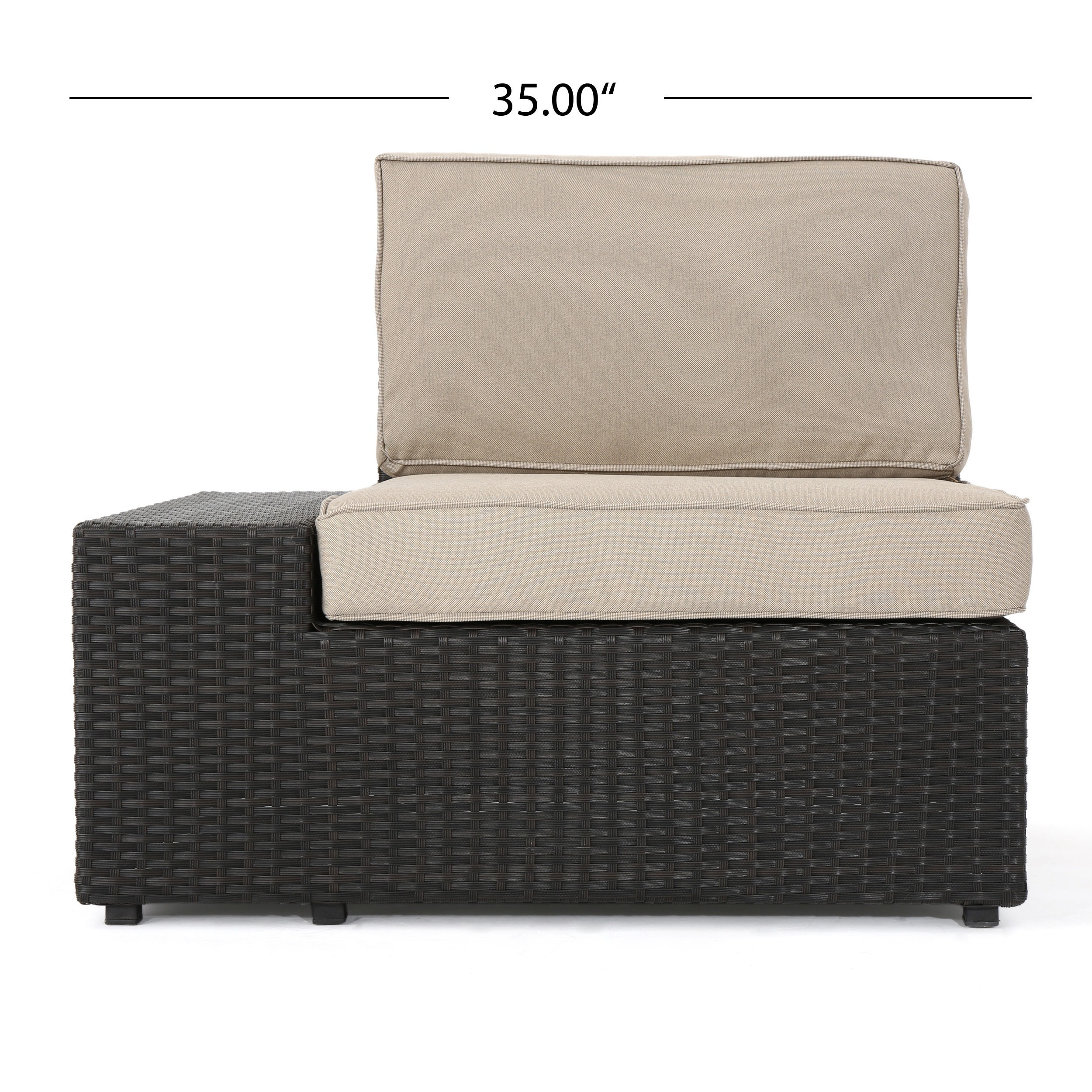 Santa Cruz Outdoor 7 Piece Wicker Sofa Set With Cushions By Christopher  Knight Home   Free Shipping Today   Overstock.com   18190223