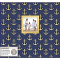 K&Company Patterned Post Bound Window Album 12inX12in Nautical