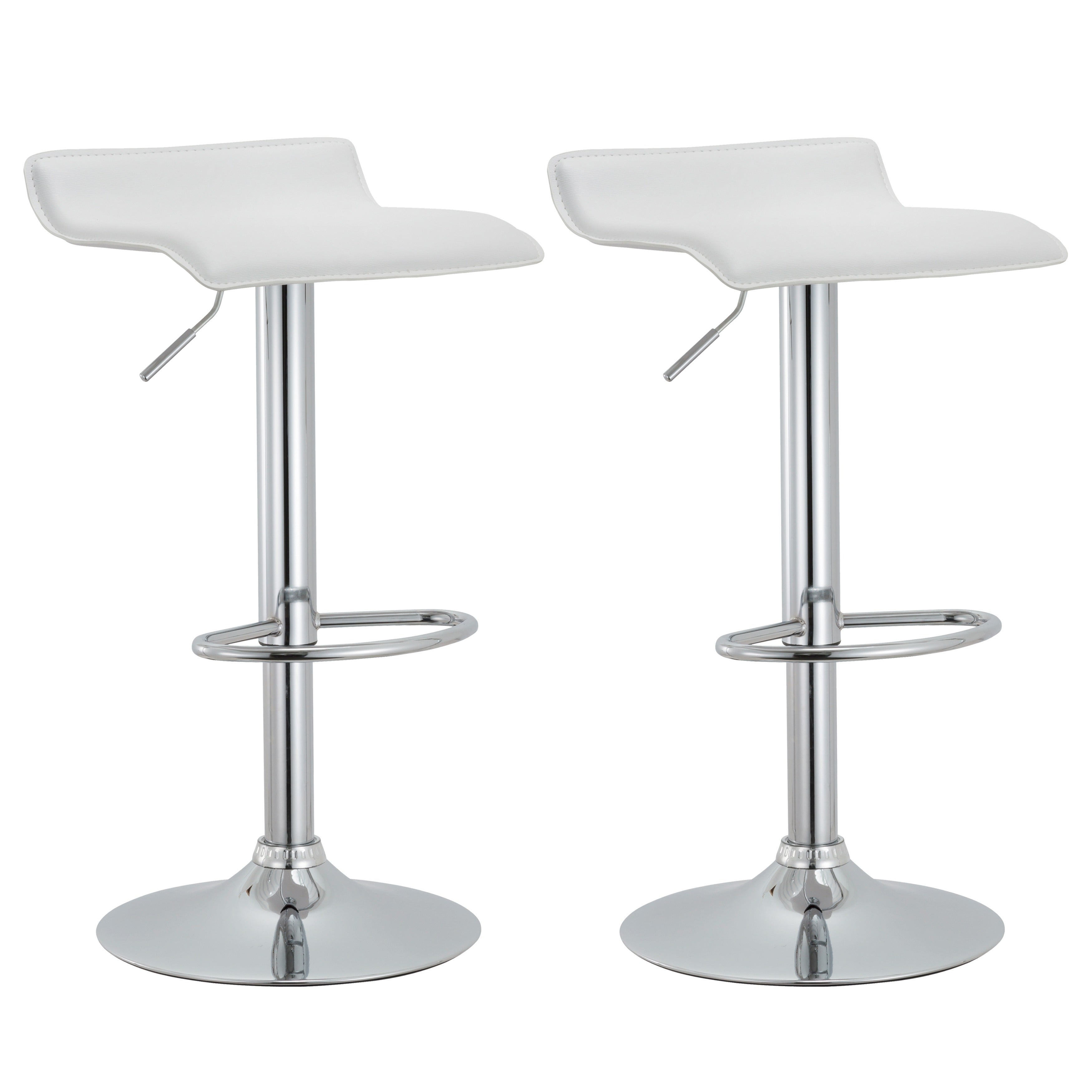 Shop Modern Adjustable Bar Stools Set Of 2 23 5 31 5 H On