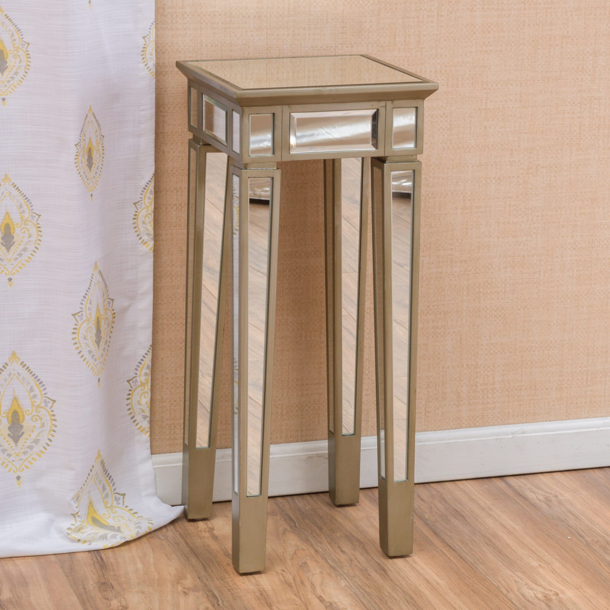 Shop Crawford Vintage Mirror End Table By Christopher Knight Home   On Sale    Free Shipping Today   Overstock.com   11207089