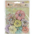 Royal Menagerie Mulberry Paper Flowers Victoria .85in To 1.5in, 8/Pkg