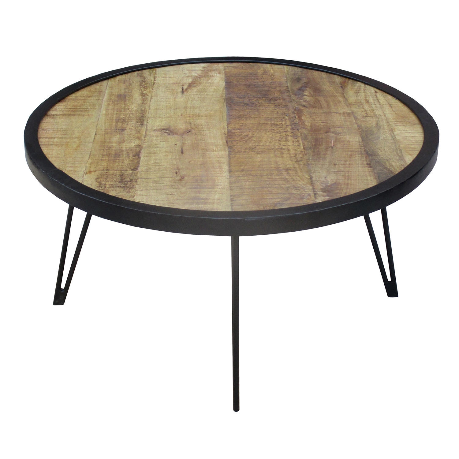Shop timbergirl reclaimed wood round coffee table free shipping today overstock com 11210599