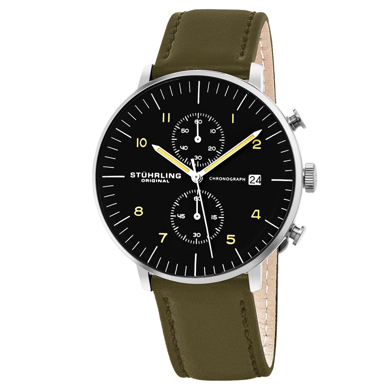 Shop Stuhrling Original Men S Monaco Quartz Chronograph Watch With