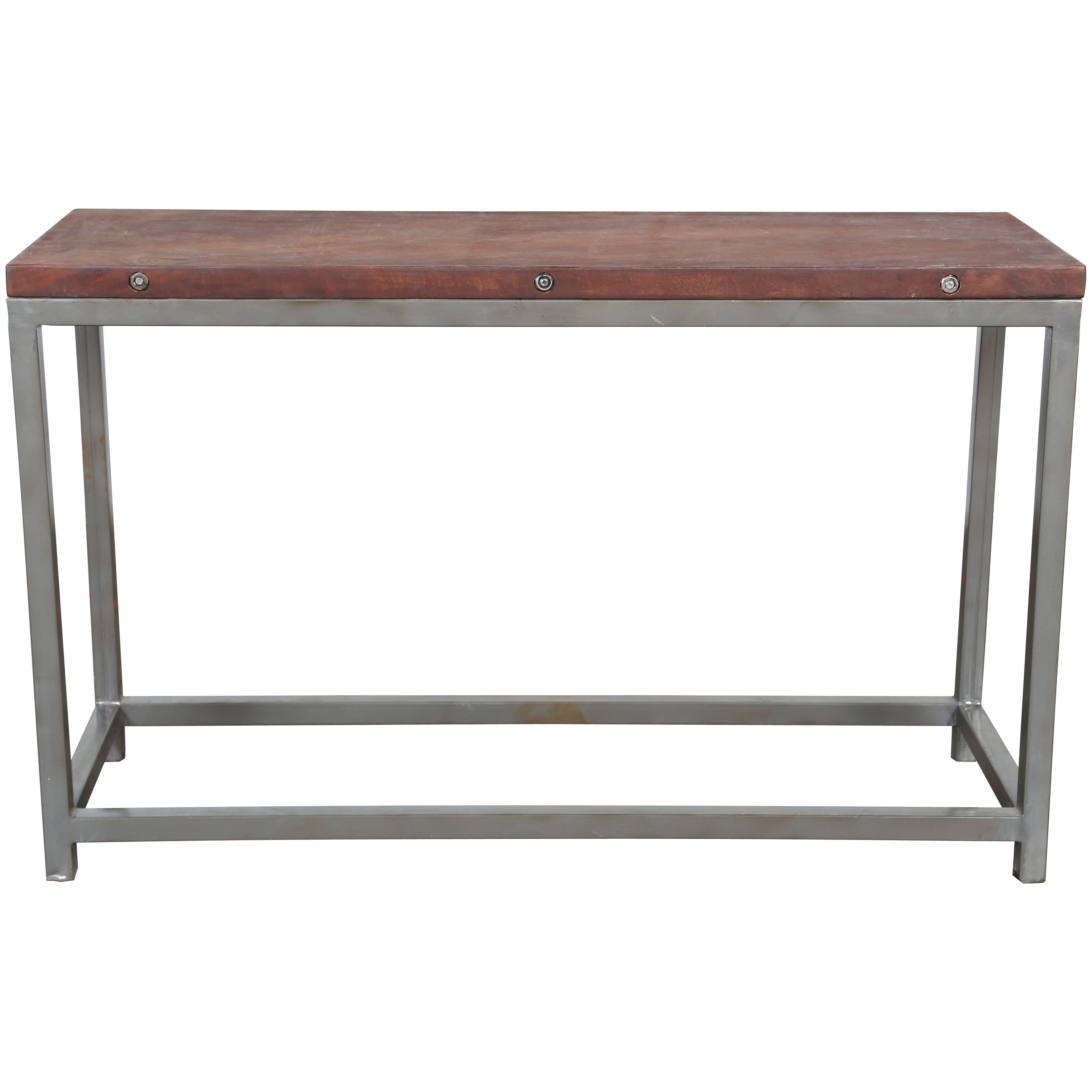 Handmade Wanderloot Reclaimed Wood Console Table With Grey Metal Frame India Free Shipping Today 11319374