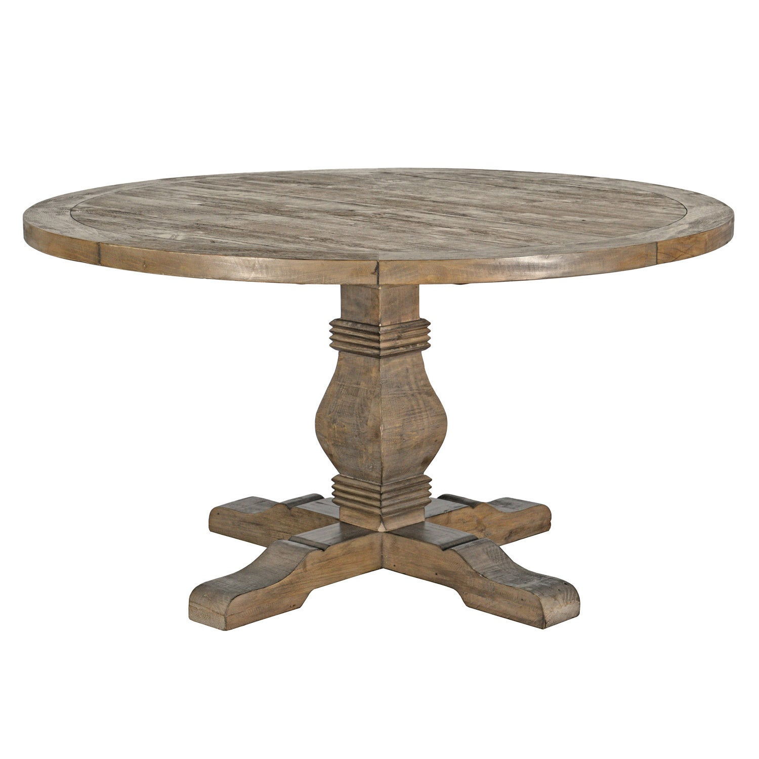 Kasey Reclaimed Wood 55 Inch Round Dining Table By Kosas Home   Taupe    Free Shipping Today   Overstock.com   18297444