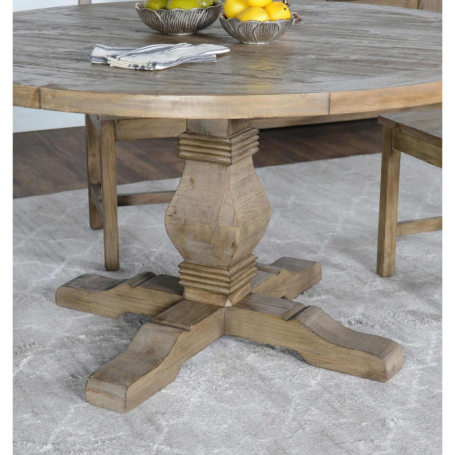 Gentil Shop Kasey Reclaimed Wood 55 Inch Round Dining Table By Kosas Home   Desert  Grey   On Sale   Free Shipping Today   Overstock.com   11319990