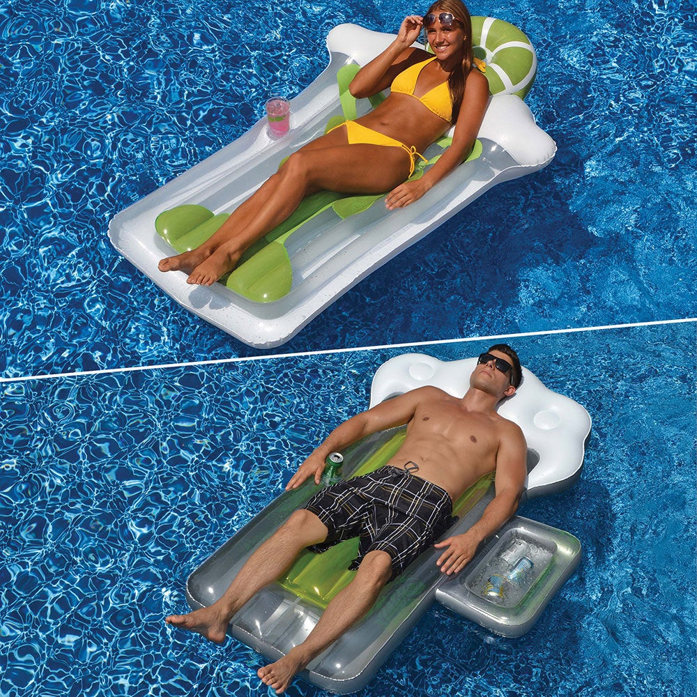 Swimline BeerMug and Margarita Matt 2-Pack Pool Floats for Swimming Pools