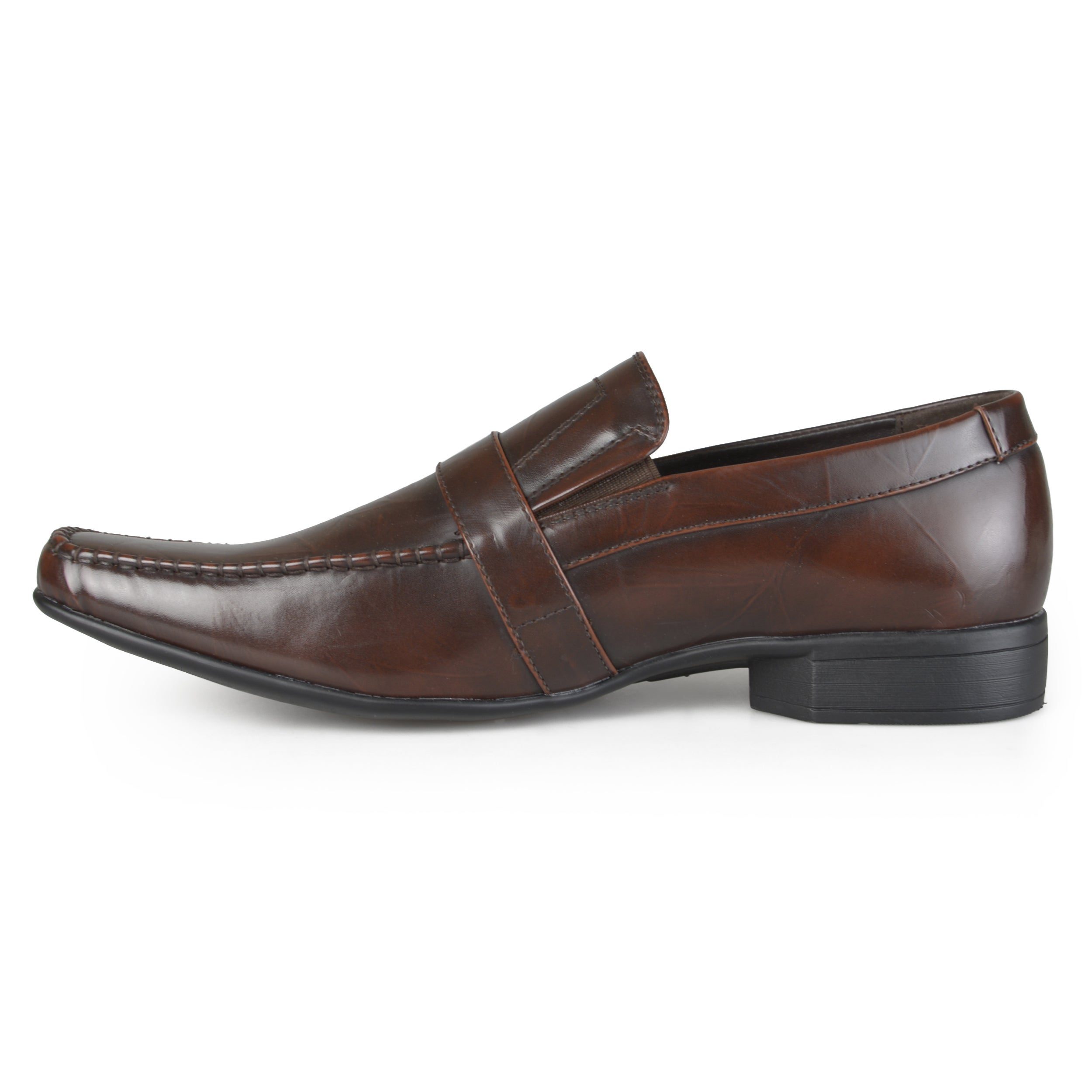 Vance Co. Men's Square Toe Faux Leather Slip-on Loafers - Free Shipping On  Orders Over $45 - Overstock.com - 18299919