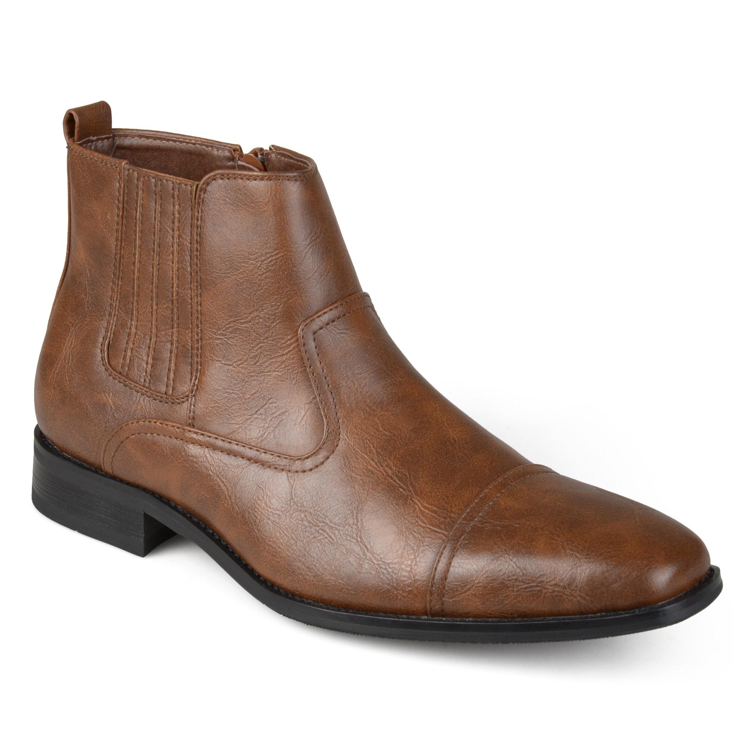 e110c9ee91f Vance Co. Men's Faux Leather Cap Toe Dress Boots