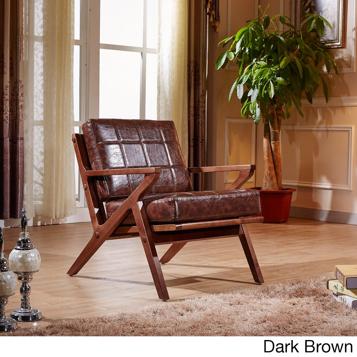 Merveilleux Shop Elegant Signature Designs Solid Wood Accent Club Arm Chair   On Sale    Free Shipping Today   Overstock.com   11324430
