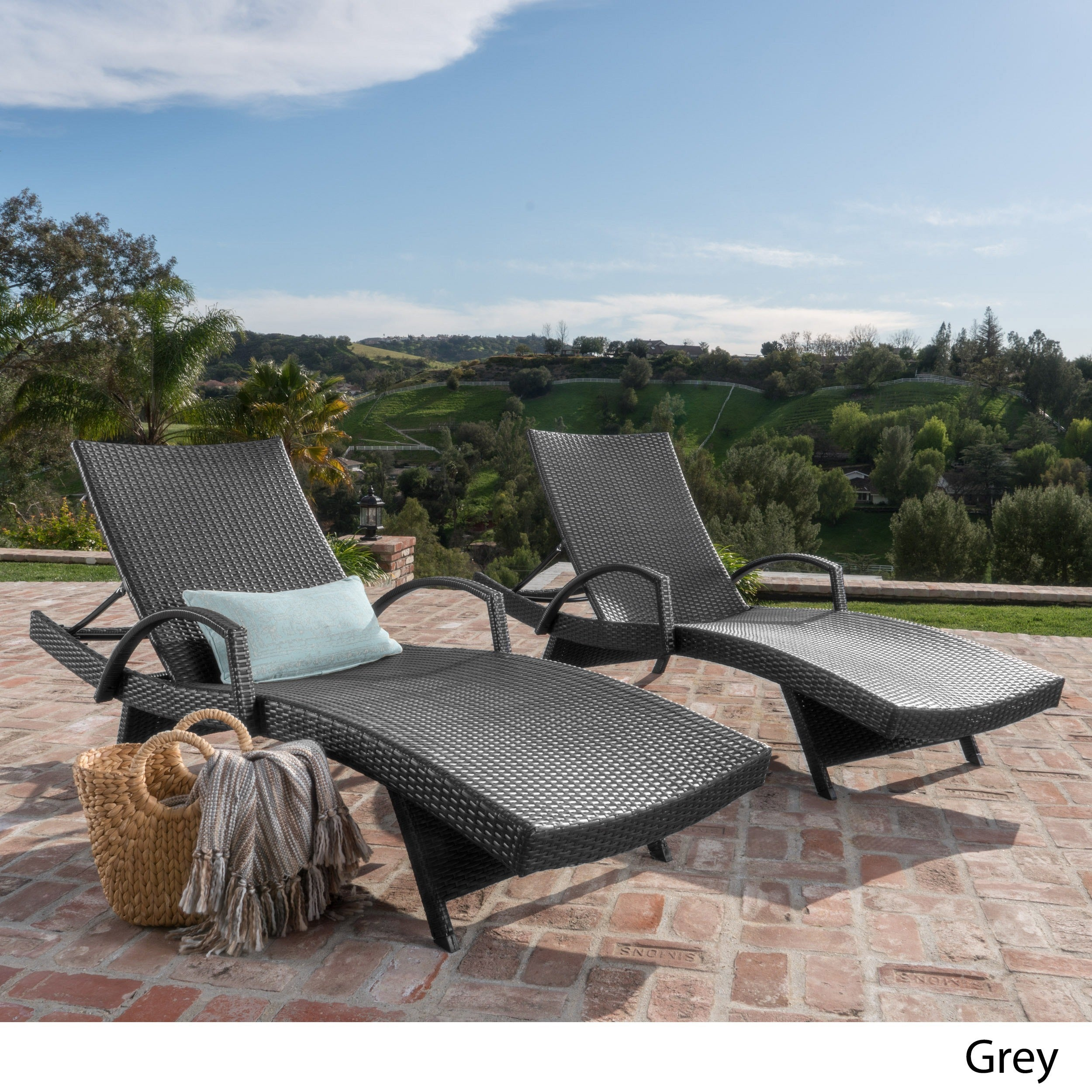 Toscana Outdoor Wicker Armed Chaise Lounge Chair (Set Of 2) By Christopher  Knight Home   Free Shipping Today   Overstock.com   18301121