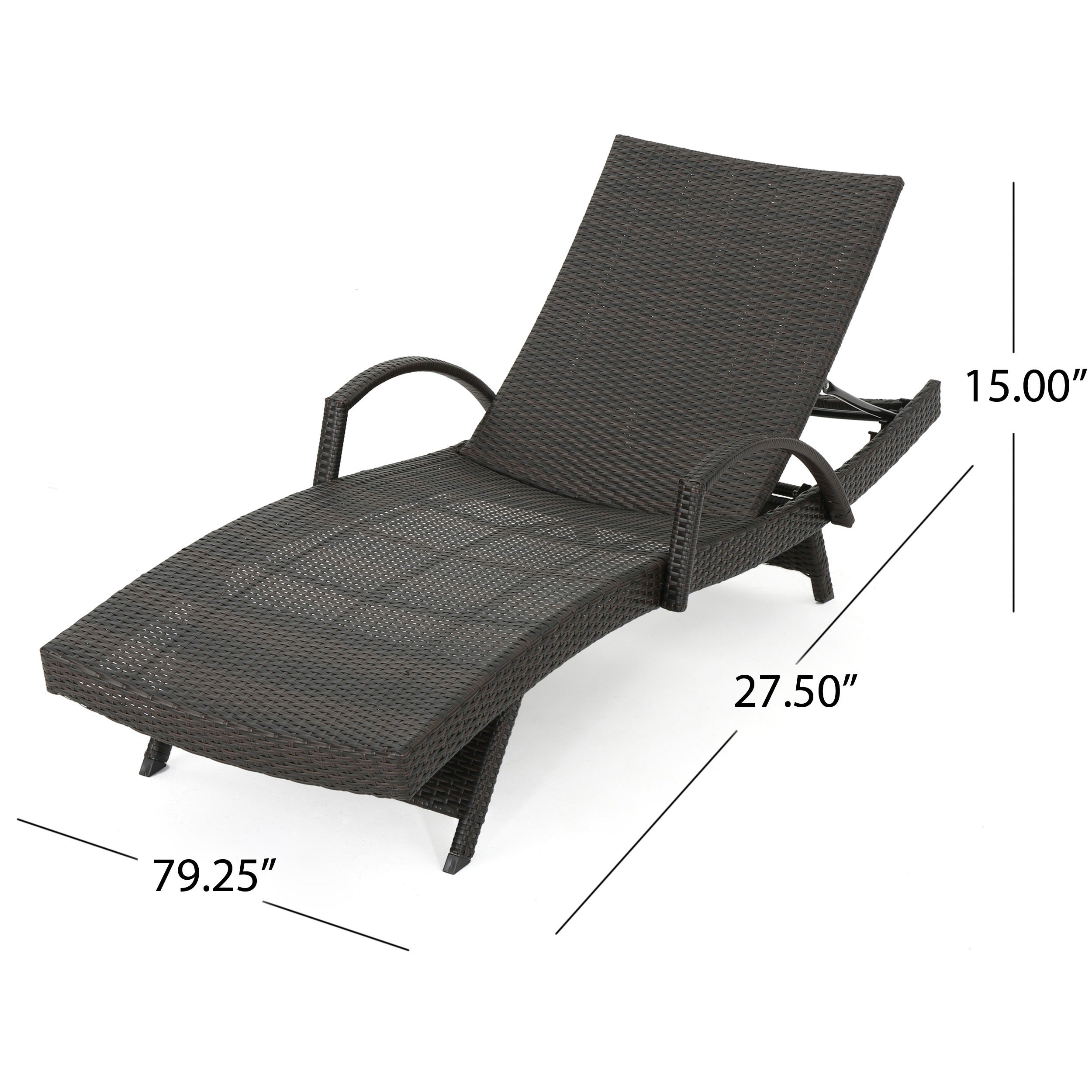 Toscana Outdoor Wicker Armed Chaise Lounge Chair Set Of 2 By Christopher Knight Home On Free Shipping Today 11324498