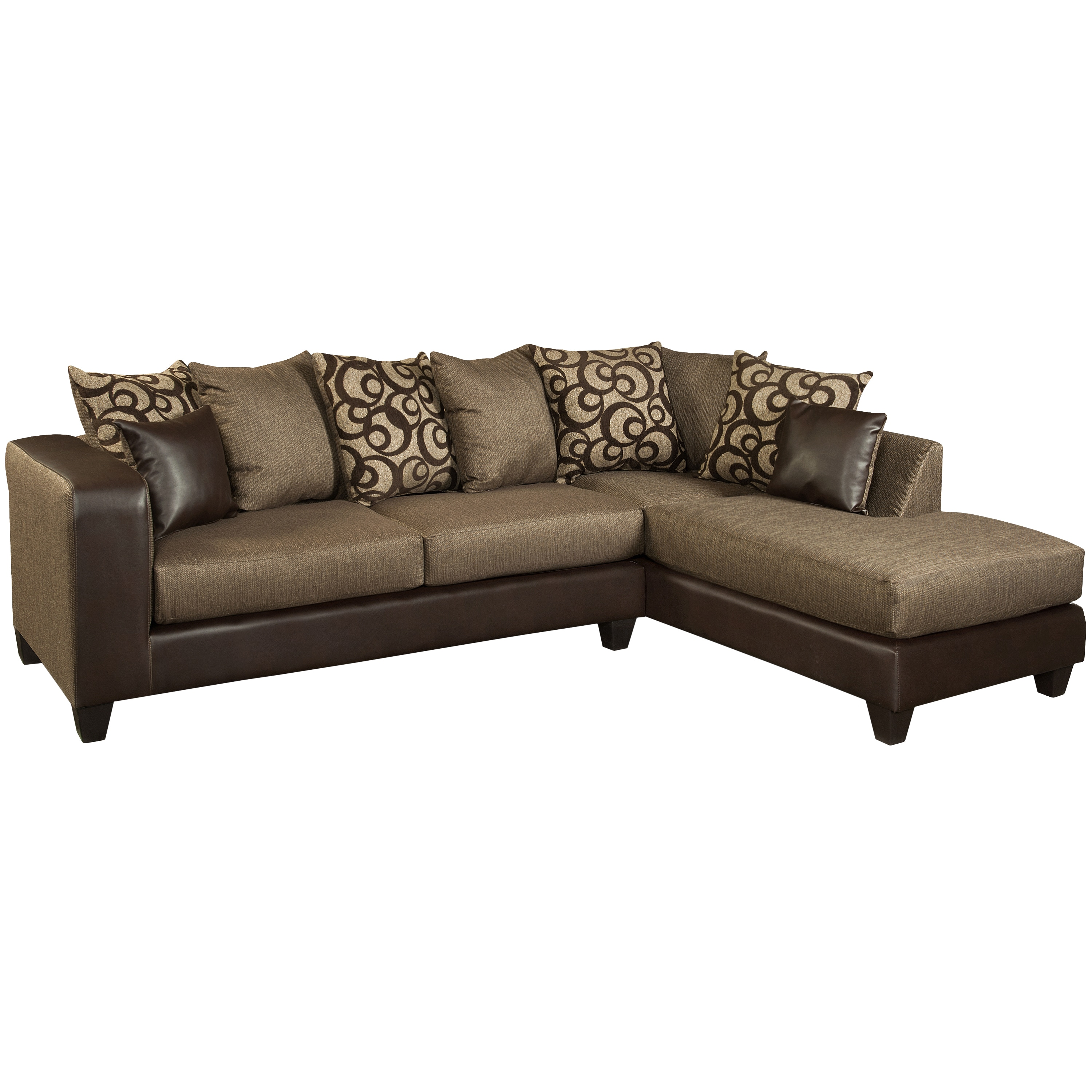 Shop Riverstone Object Espresso Chenille Sectional - Free Shipping ...