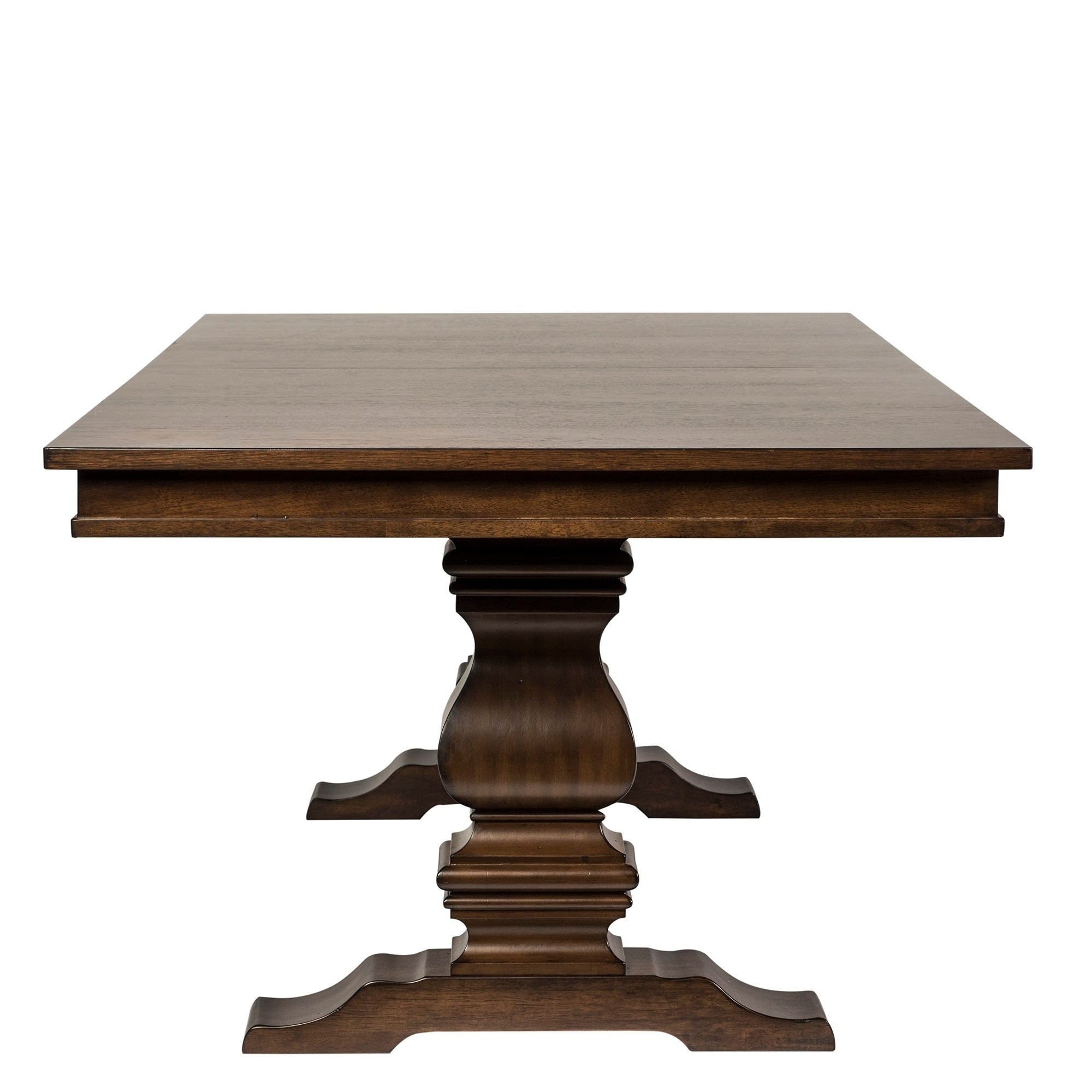 Shop Armand Antique Brownstone Trestle Table And Base   Brown   Free  Shipping Today   Overstock.com   11324756
