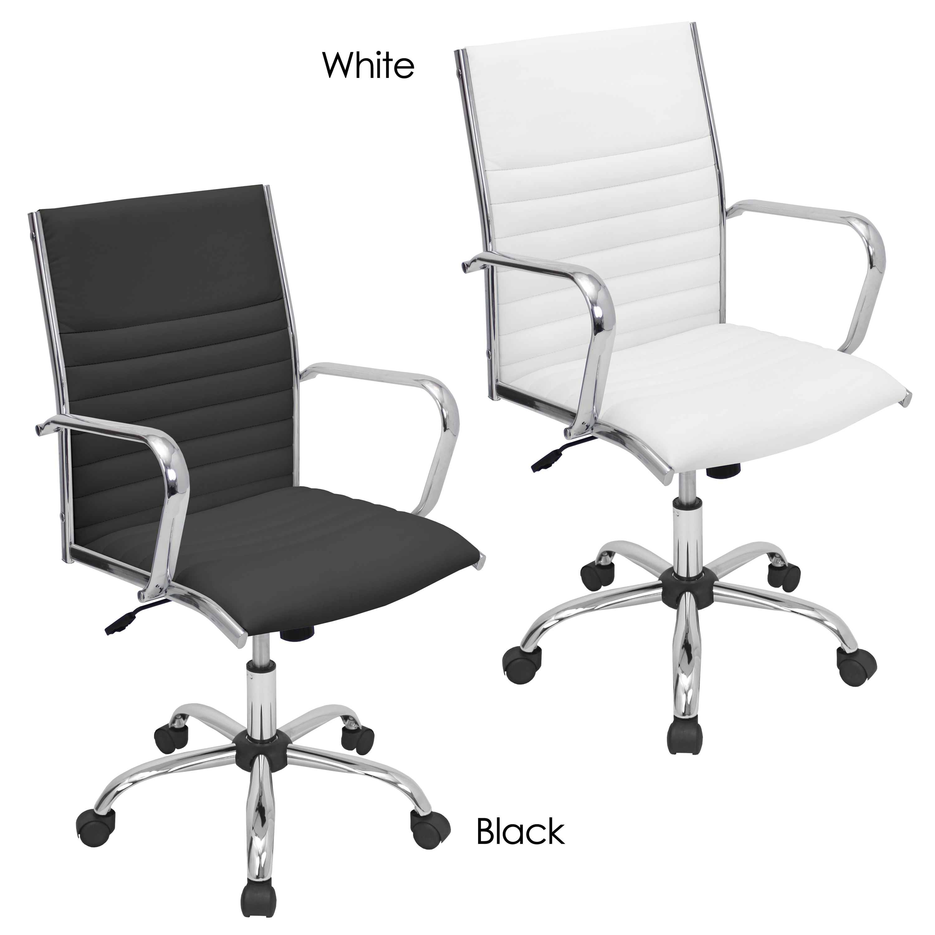 Shop Porch Den Speer Modern Faux Leather Office Chair On Sale