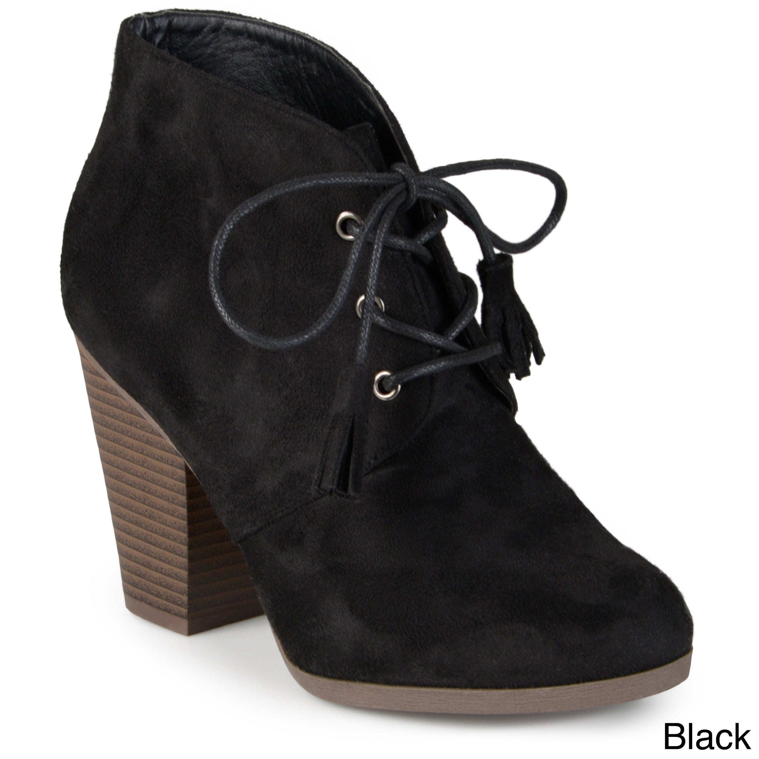 40cd4c089535 Shop Journee Collection Women s  Wen  Faux Suede Lace-up Ankle Booties -  Free Shipping Today - Overstock - 11332088