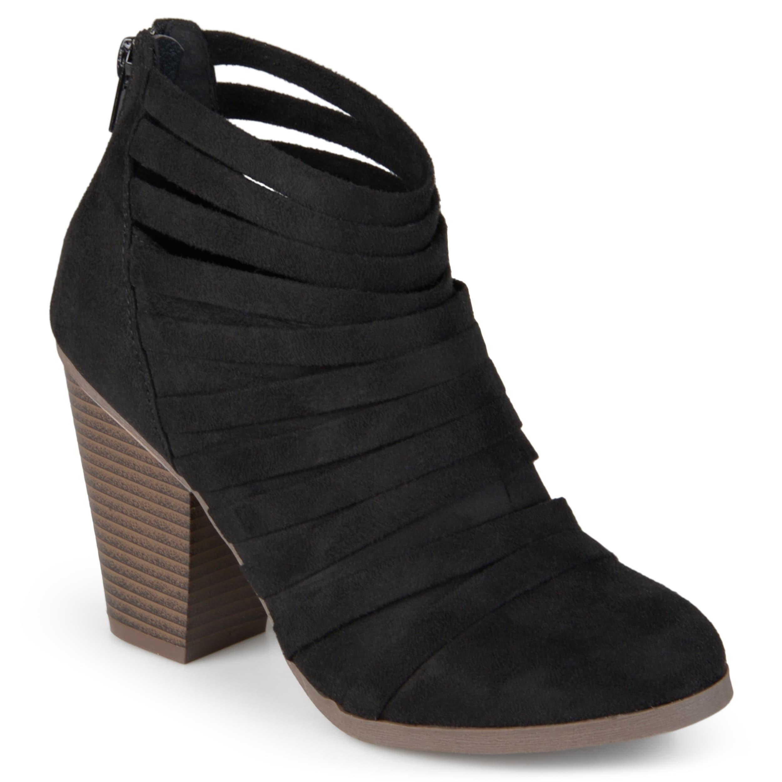 journee collection femmes selena « faux suède chaussons à la la la cheville 43e55d