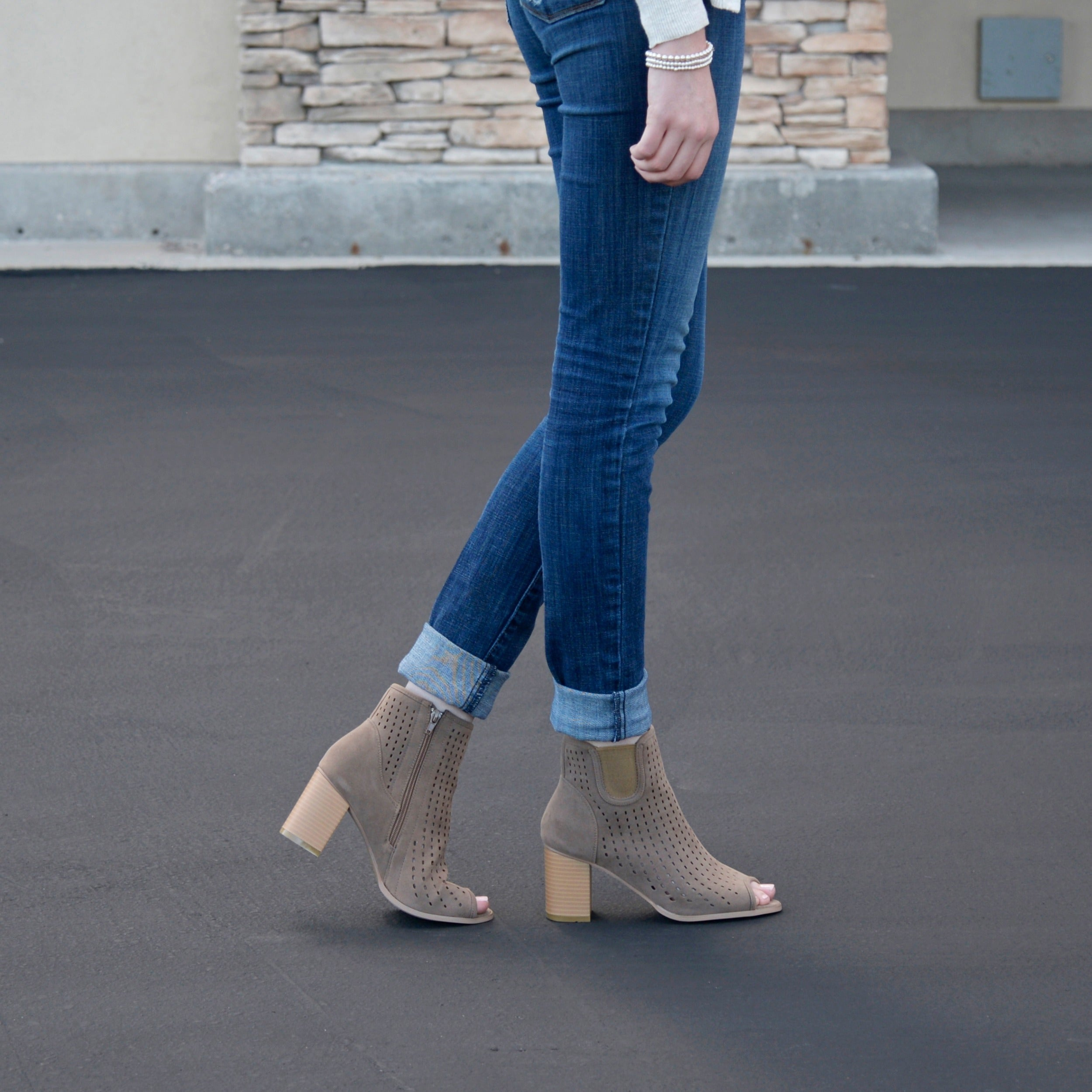 f8b312b266df Shop Journee Collection Women s  Emm  Open Toe Faux Suede Booties - Free  Shipping Today - Overstock - 11332185