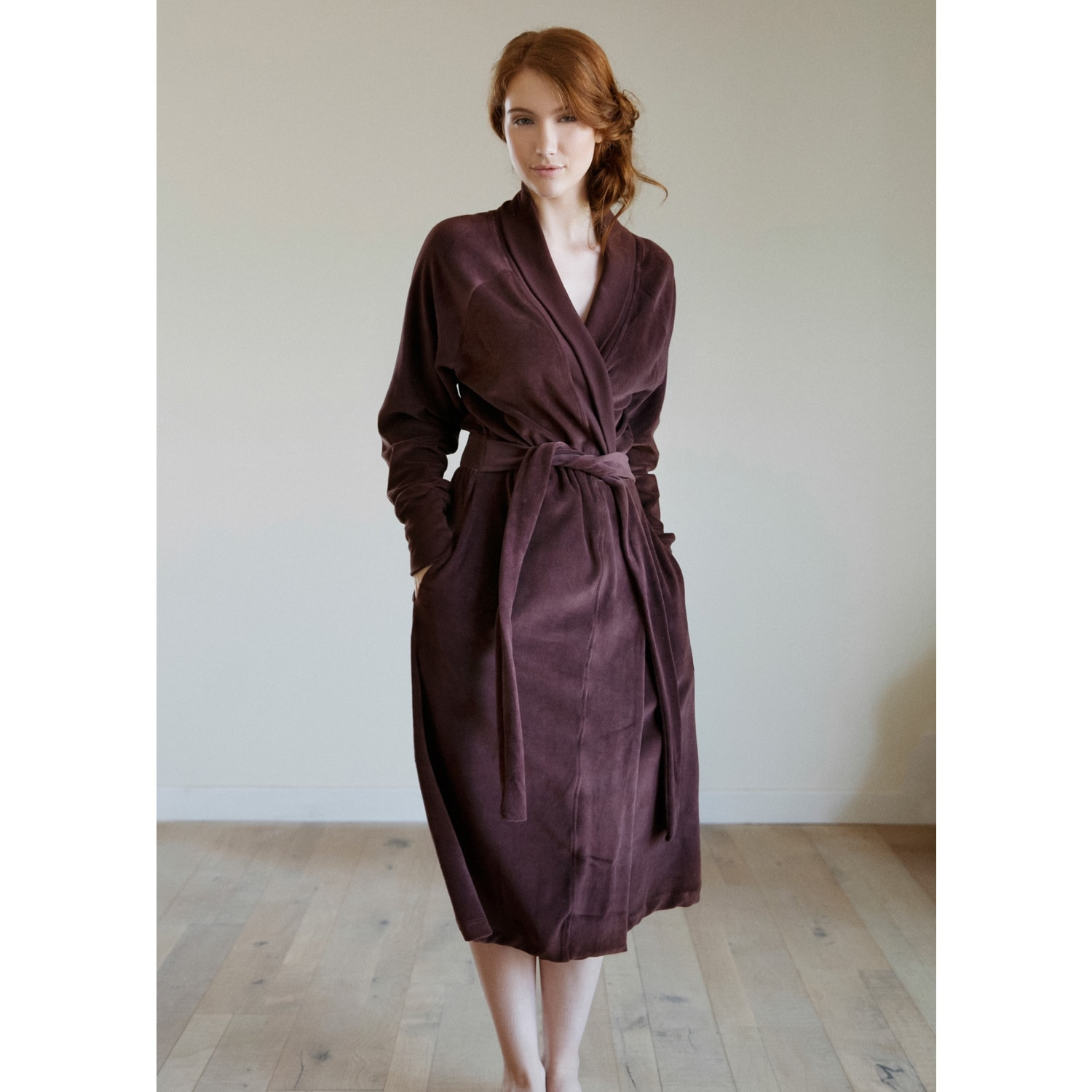 Shop Organic Cotton Velour Robe - Free Shipping Today - Overstock - 11332917 c43df5eb2