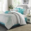 Chic Home Petunia Embroidered 12-piece Bed-in-a-Bag with Sheet Set
