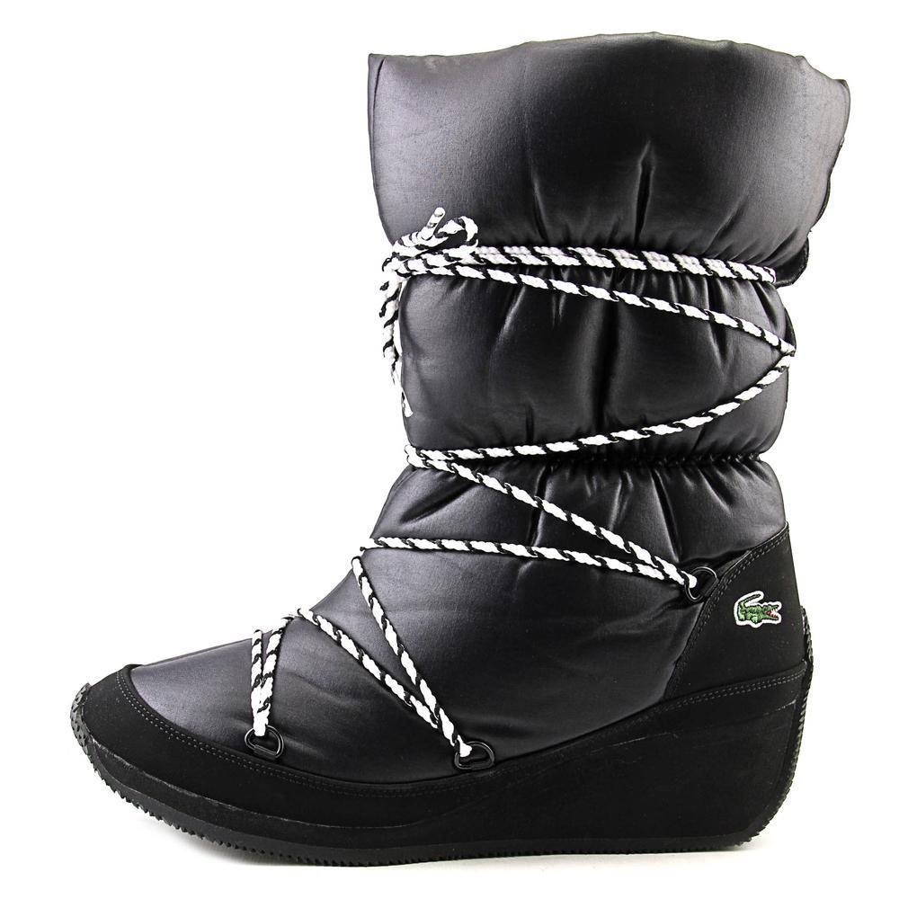 160a98c2f1870b Shop Lacoste Women s  Arbonne Ski Trad SRW Text  Basic Textile Boots - Free  Shipping Today - Overstock - 11333555
