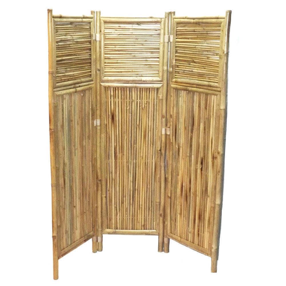 Shop Handmade Bamboo Geometric Screen Room Divider Vietnam Free