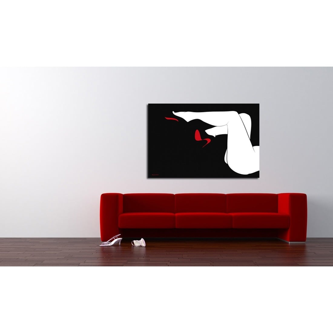 aaa7db29bb36 Shop Maxwell Dickson  Red Bottoms  Modern Canvas Wall Art - Free Shipping  Today - Overstock - 11335081