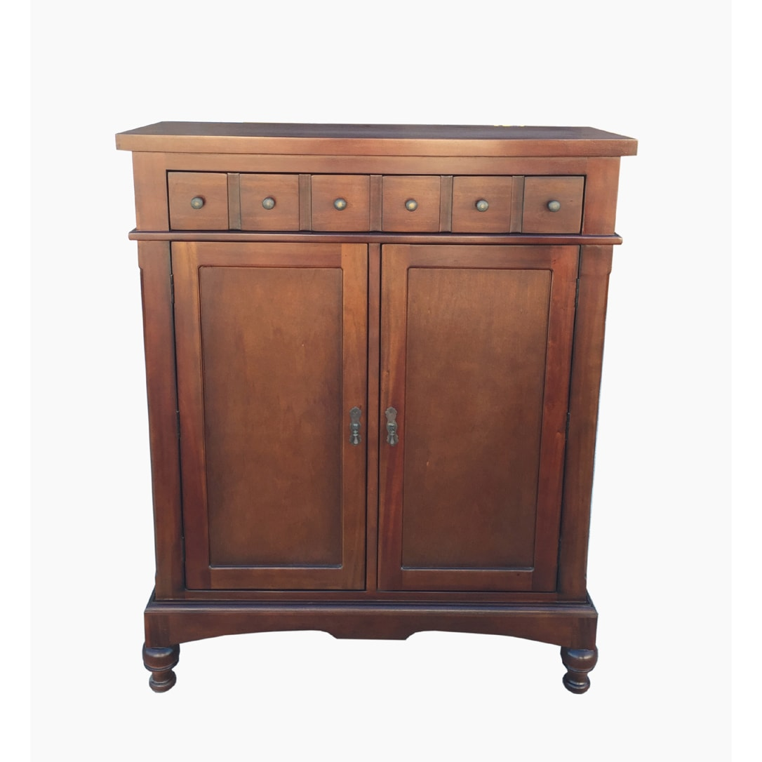 Charmant D Art Colonial Apothecary Storage Cabinet   Free Shipping Today    Overstock.com   18310382