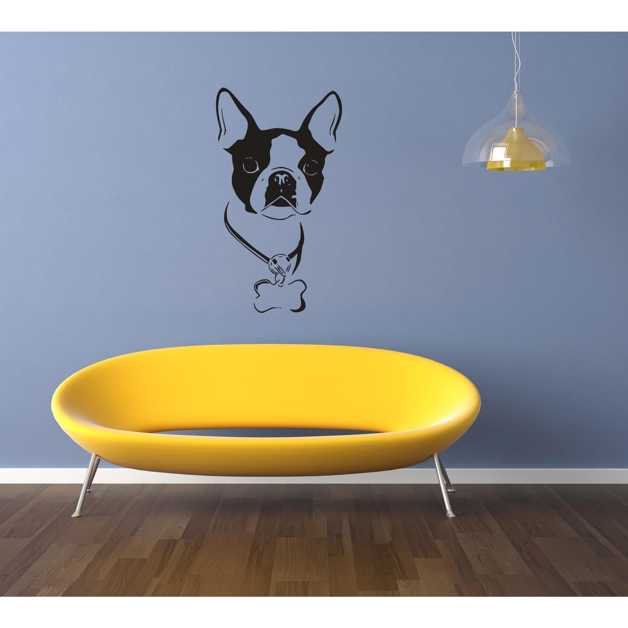 Boston Terrier Dog Drupel Wall Art Sticker Decal - Free Shipping On ...