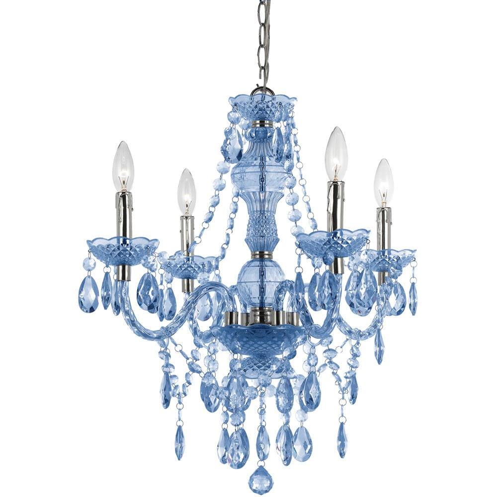 Naples Light Blue 4 Mini Chandelier Free Today Com 11342415