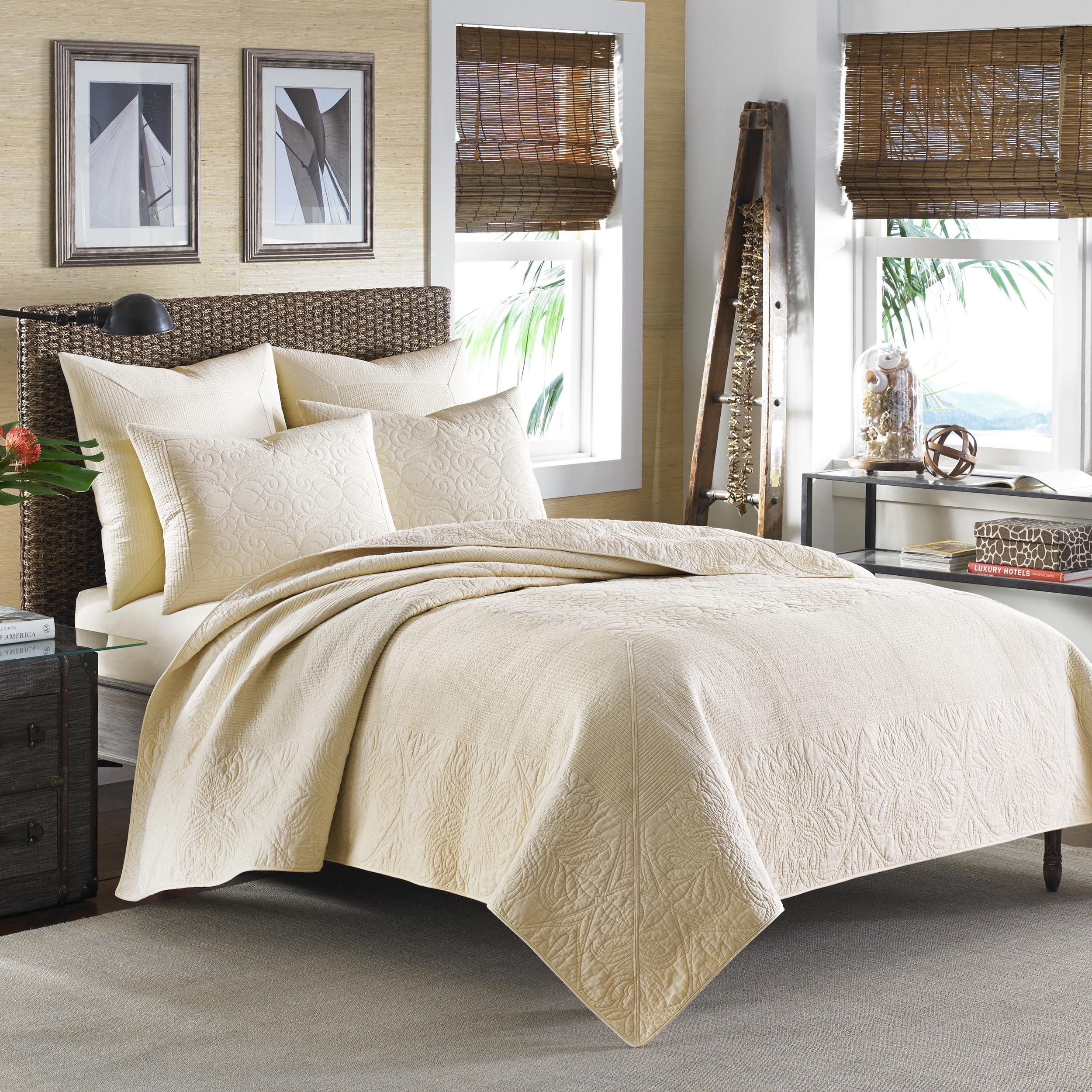 Shop Tommy Bahama Nassau Ivory Quilt - Free Shipping Today ...